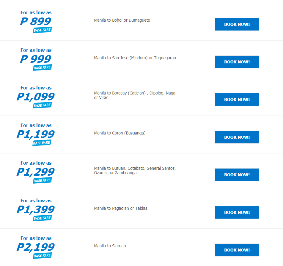 Cebu Pacific: Fly for as low as P299